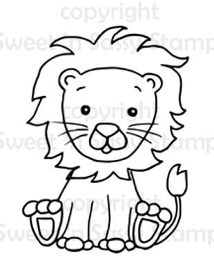 Little Leo Lion Digital Stamp