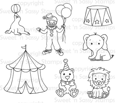Circus Digital Stamp Collection