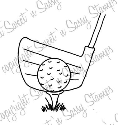 Golf Tee Digital Stamp