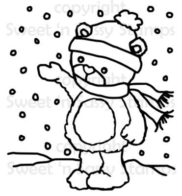 Rhubarb's Snowy Day Digital Stamp