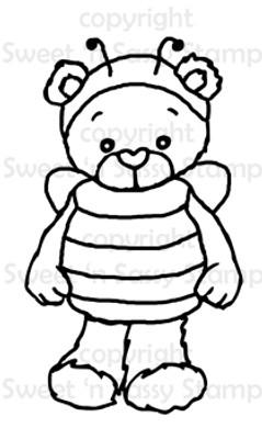 Rhubarb Honey Bee Digital Stamp