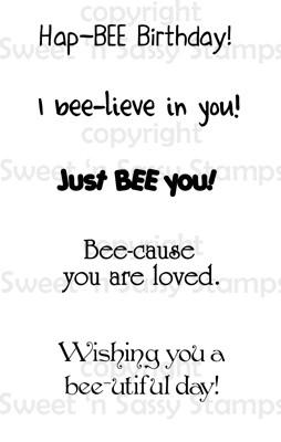 Bee Sentiments 2 Digital Stamp
