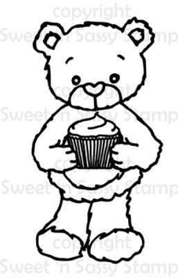 Rhubarb's Cupcake Digital Stamp