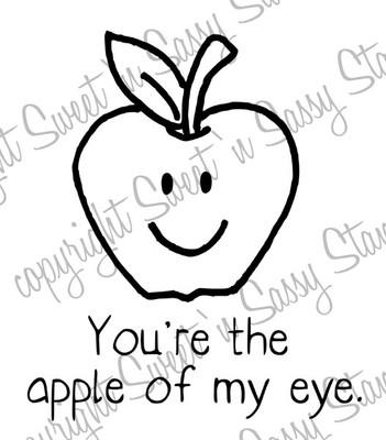 Apple of My Eye Digital Stamp