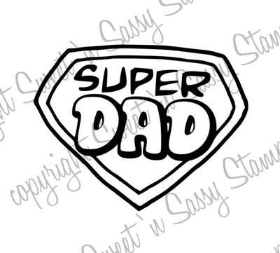 Super Dad Symbol Digi Stamp