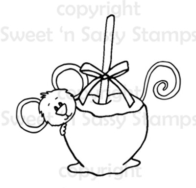 Cocoa's Candy Apple Digital Stamp