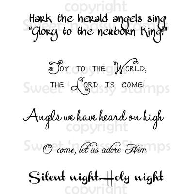 Christmas Carol Sentiments Digital Stamp