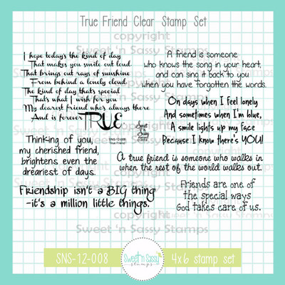 True Friend Clear Stamp Set