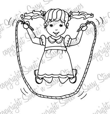 Jump Rope Molly Digi Stamp