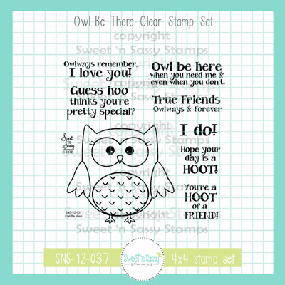 Owl Be There Clear Stamp Set