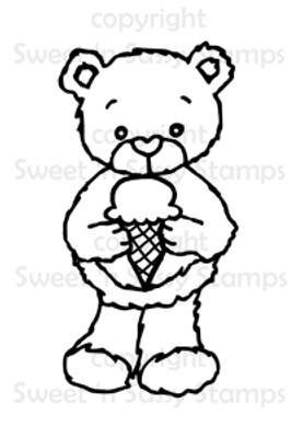 Rhubarb's Ice Cream Cone Digital Stamp