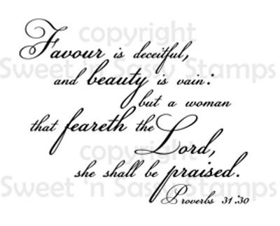 Proverbs 31:30 Digital Stamp
