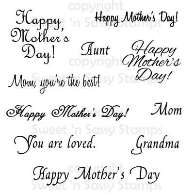 Mother's Day Sentiments Digital Stamp Set