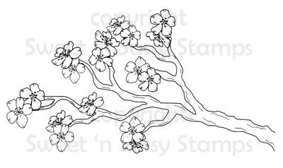 Cherry Blossom Branch Digital Stamp