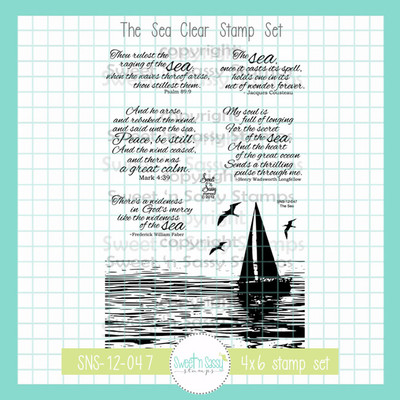 The Sea Clear Stamp Set