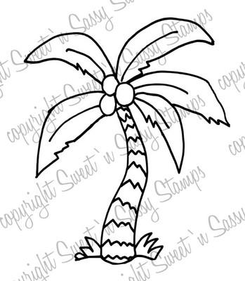 Palm (Coconut) Tree Digital Stamp