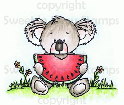 Kiwi Koala's Watermelon Colored Digital Stamp