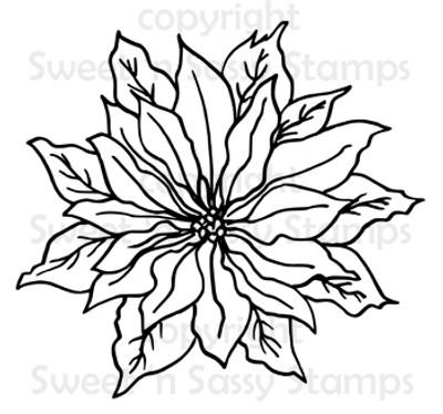 Poinsettia Digital Stamp