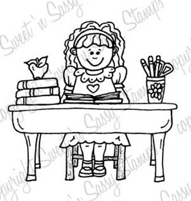 School Girl Sally Digi Stamp