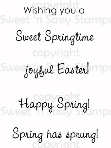 Spring Sentiments Digital Stamp