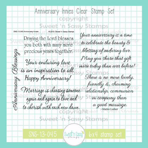 Anniversary Innies Clear Stamp Set