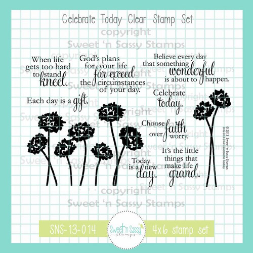 Celebrate Today Clear Stamp Set