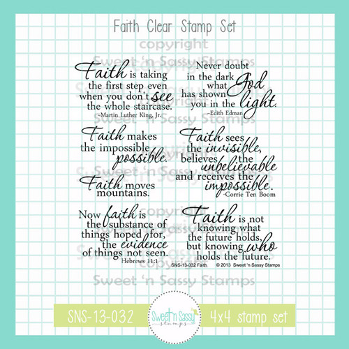 Faith Clear Stamp Set