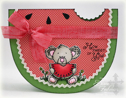 Watermelon Card Digital Template