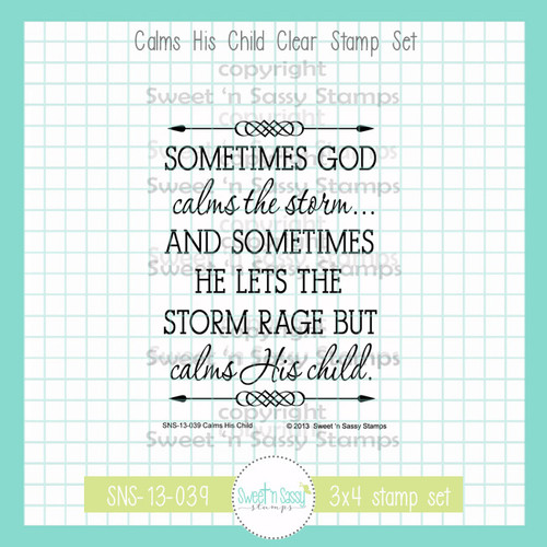 Calms His Child Clear Stamp