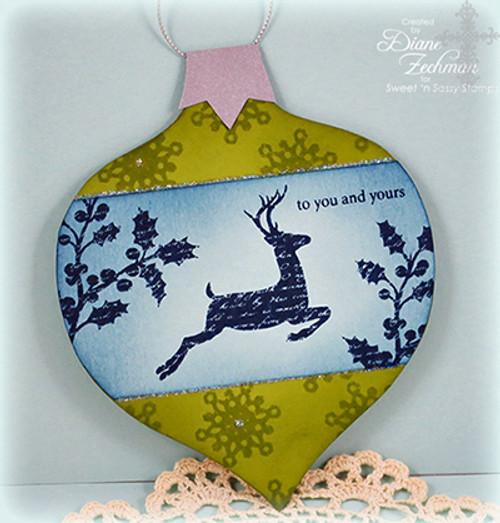 Ornament Card Digital Template