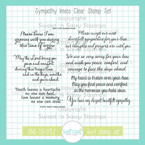 Sympathy Innies Clear Stamp Set