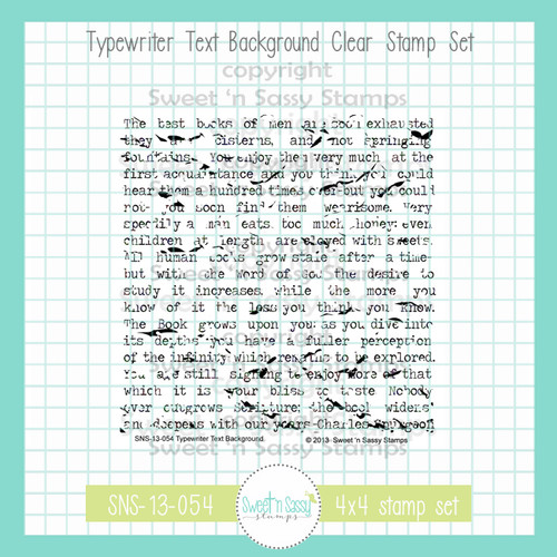 Typewriter Text Background Clear Stamp