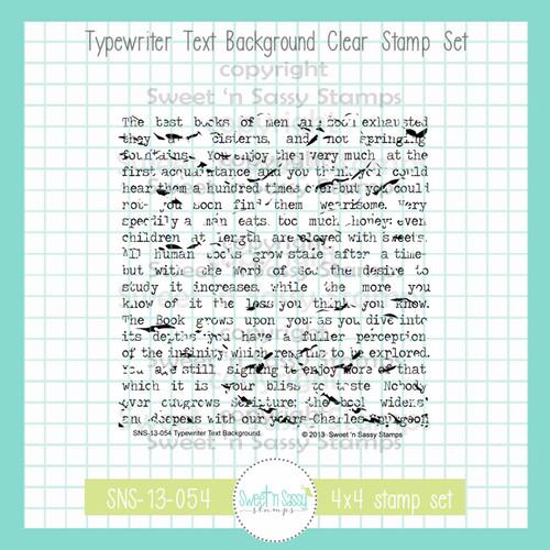 Typewriter Text Background Clear Stamp
