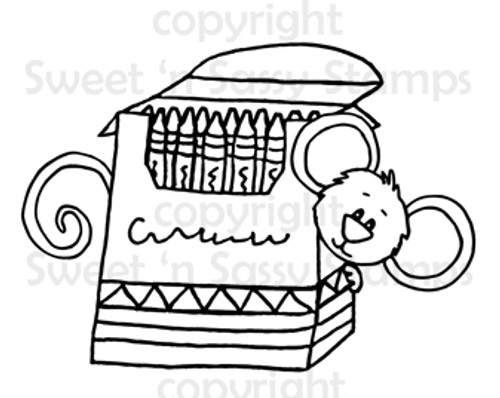 Cocoa's Crayons Digital Stamp