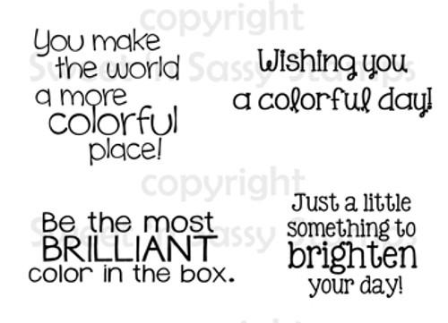 Colorful Sentiments Digital Stamp Set