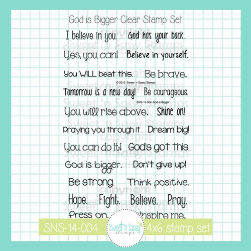 God is Bigger Clear Stamp Set