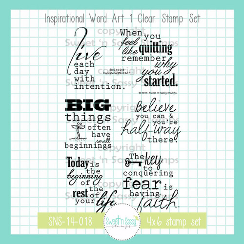 Inspirational Word Art 1 Clear Stamp Set