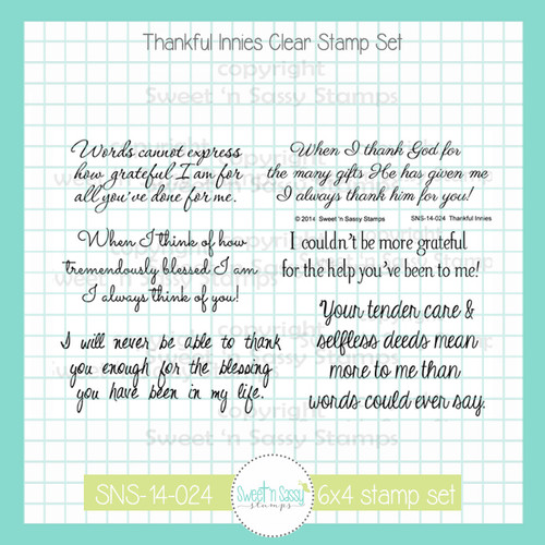 Thankful Innies Clear Stamp Set