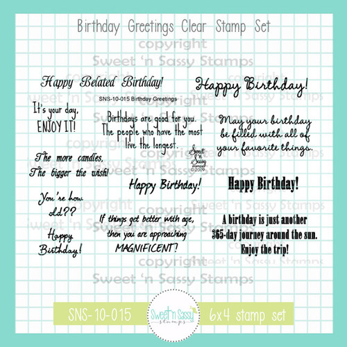 Birthday Greetings Clear Stamp Set