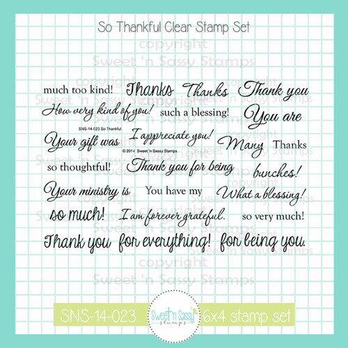 So Thankful Clear Stamp Set