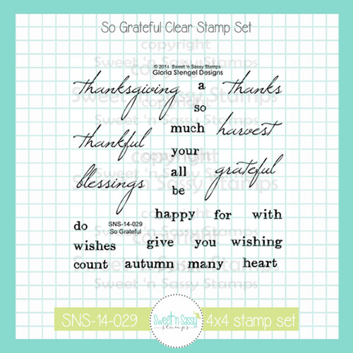 So Grateful Clear Stamp Set