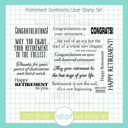 Retirement Sentiments Clear Stamp Set