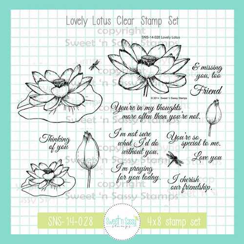 Lovely Lotus Clear Stamp Set