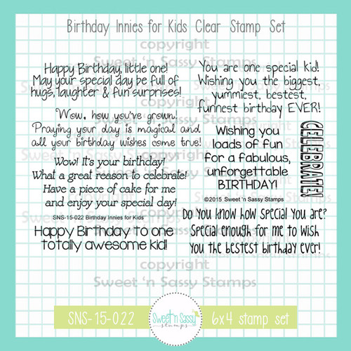 Birthday Innies for Kids Clear Stamp Set