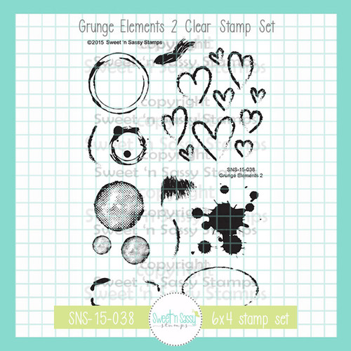 Grunge Elements 2 Clear Stamp Set