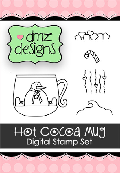 Hot Cocoa Mug Digital Stamp Set