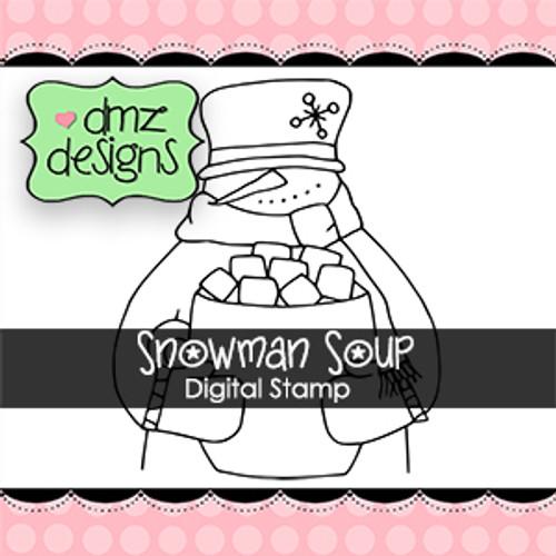 Snowman Soup-DMZ Digital Stamp