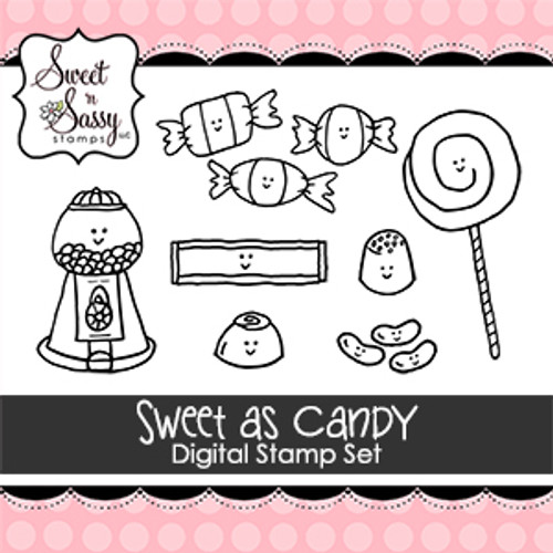 Sweet as Candy Digital Stamp Set