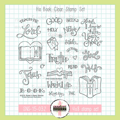 Creative Worship: His Book Clear Stamp Set