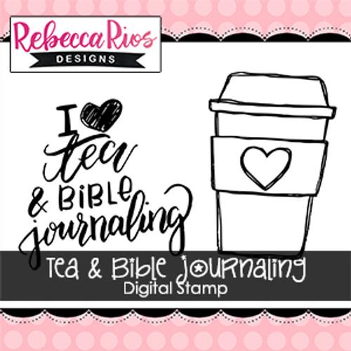 Tea & Bible Journaling Digital Set